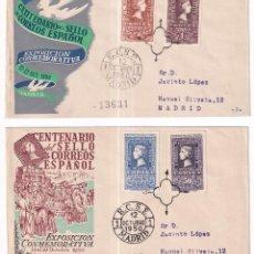 Selos: SELLOS ESPAÑA OFERTA AÑO 1950 SOBRES PRIMER DIA CENTENARIO. Lote 286453613