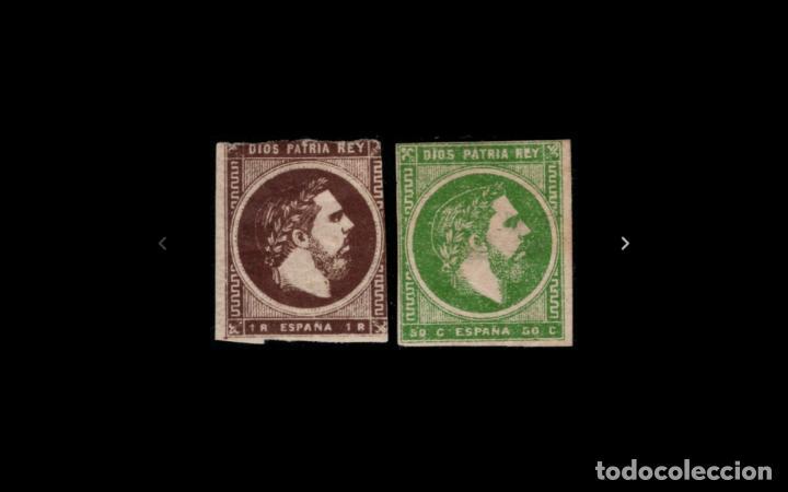 ESPAÑA - 1875 - CARLOS VII - EDIFIL 160/161 - MH* - NUEVOS - SERIE COMPLETA. (Sellos - España - Otros Clásicos de 1.850 a 1.885 - Nuevos)