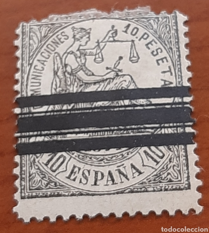 10 PESETAS ALEGORIA DE LA JUSTICIA DE 1874 (Sellos - España - Otros Clásicos de 1.850 a 1.885 - Usados)