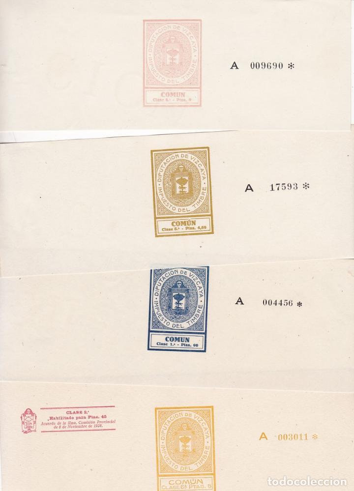 GP32- FISCALES PAPEL SELLADO DIPUTACION VIZCAYA . SERIE COMPLETA 9 VALORES 1934/37 (Sellos - España - Otros Clásicos de 1.850 a 1.885 - Usados)
