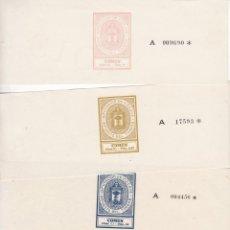Selos: GP32- FISCALES PAPEL SELLADO DIPUTACION VIZCAYA . SERIE COMPLETA 9 VALORES 1934/37. Lote 287815503