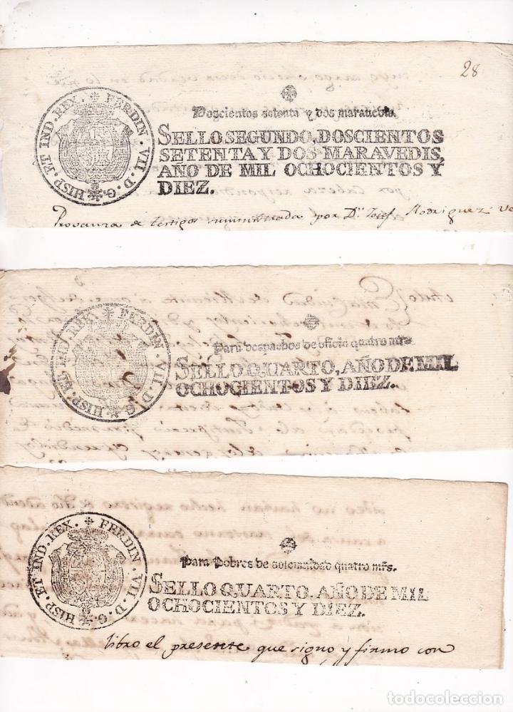 GP32- FISCALES PAPEL SELLADO FERNANDO VII . SERIE COMPLETA 6 VALORES 1810 (Sellos - España - Otros Clásicos de 1.850 a 1.885 - Usados)