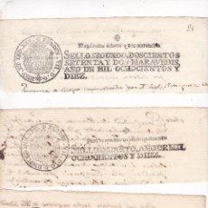 Selos: GP32- FISCALES PAPEL SELLADO FERNANDO VII . SERIE COMPLETA 6 VALORES 1810. Lote 287815588