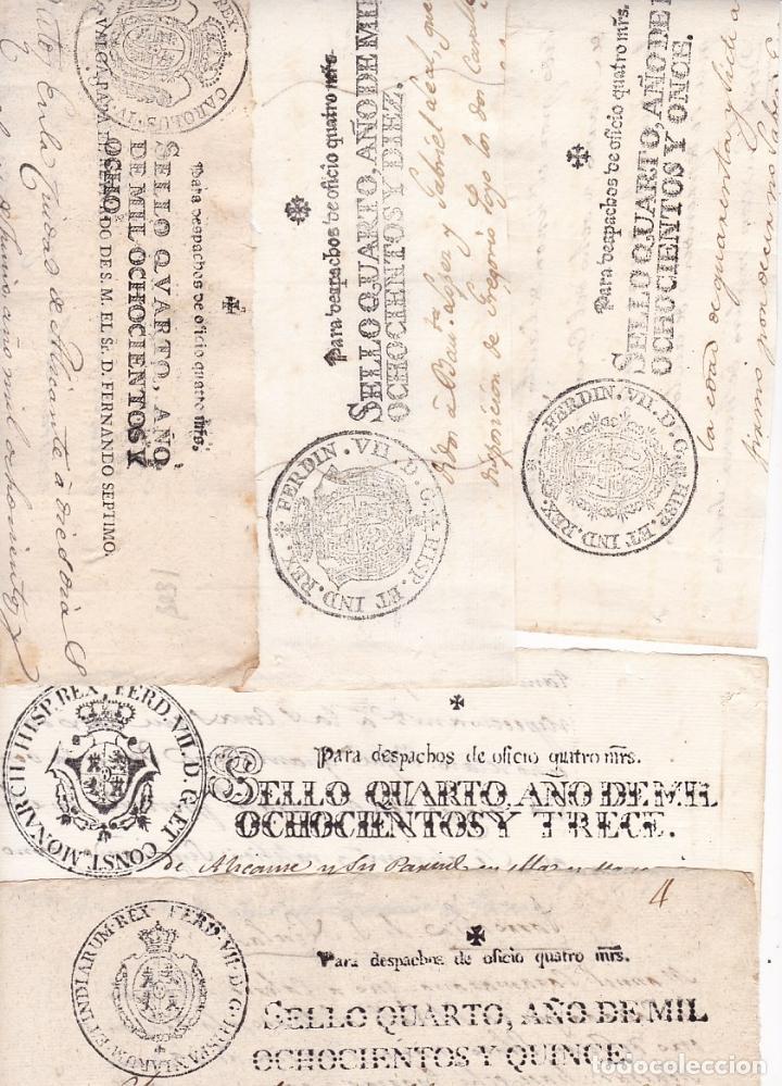 ST- FISCALES ENORME LOTE PAPEL SELLADO 348 VALORES DIFERENTES 1723/1950. VER 15 IMÁGENES (Sellos - España - Otros Clásicos de 1.850 a 1.885 - Usados)
