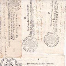 Selos: ST- FISCALES ENORME LOTE PAPEL SELLADO 348 VALORES DIFERENTES 1723/1950. VER 15 IMÁGENES. Lote 287816588