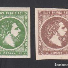 Timbres: ESPAÑA, CORREO CARLISTA, 1875 EDIFIL Nº 160 / 161 /*/, CARLOS VII,. Lote 289877688