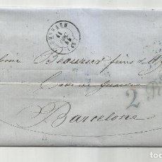 Sellos: CIRCULADA Y ESCRITA 1855 DE MULHOUSE FRANCIA A BARCELONA. Lote 290162218