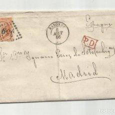 Sellos: CIRCULADA Y ESCRITA 1866 DE BAYONNE FRANCIA FRANCIA A MADRID. Lote 290165763