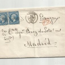 Sellos: CIRCULADA Y ESCRITA 1864 DE BAYONNE FRANCIA A MADRID. Lote 290166693