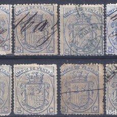 Sellos: FISCALES POSTALES. IMPUESTO DE VENTAS. 1876.. Lote 293991263
