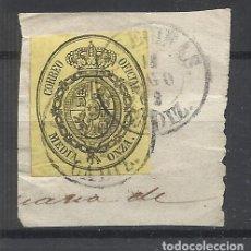 Sellos: ESCUDO SOBRE FRAGMENTO FECHADOR ALGECIRAS CADIZ. Lote 295010148