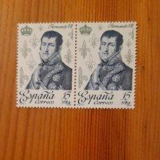 Sellos: 2 SELLOS / ESTAMPILLAS - ESPAÑA - FERNANDO VII. Lote 295046813