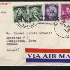 Sellos: A-3126- USA. UNITED STATES OF AMERICA. BONITO SOBRE CIRCULADO EN 1961 DESDE ALASKA.. Lote 25453155