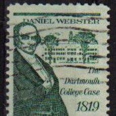 Sellos: USA 1969 SCOTT 1380 SELLO PERSONAJES DANIEL WEBSTER USADO ESTADOS UNIDOS ETATS UNIS . Lote 9047833