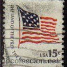 Sellos: USA 1976 SCOTT 1598 SELLO BANDERA AMERICANA TIERRA DE LIBERTAD PATRIA DE VALIENTES USADO ESTADOS UNI. Lote 9058342