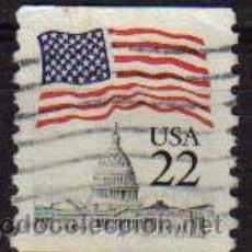Sellos: USA 1985 SCOTT 2114 SELLO º BANDERAS CAPITOLIO ETATS UNIS ESTADOS UNIDOS TIMBRE UTILISÉ USADO. Lote 9078645