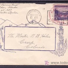 Sellos: ESTADOS UNIDOS 365 SOBRE CON MARCA CARMIN -R.P.O. PRINCESS LODICE, MAR 26 1936, VANCOUVER SKAGWAP-+. Lote 10879299