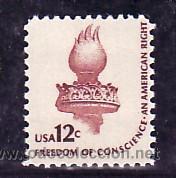 ESTADOS UNIDOS 1307 SIN CHARNELA, LLAMA DE LA ESTATUA DE LA LIBERTAD, (Sellos - Extranjero - América - Estados Unidos)