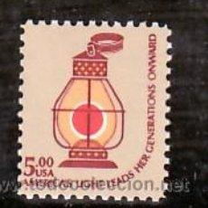 Sellos: ESTADOS UNIDOS 1232 SIN CHARNELA, FF.CC., LINTERNA DE FERROCARRIL,. Lote 10843409