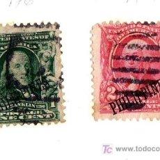 Sellos: LOTE 2 SELLOS USA SOBRECARGADOS CON DIVISA DE FILIPINAS, PRINCIPIO S.XX (VER IMÁGENES EN INTERIOR). Lote 12987163