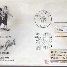 Selos: SOBRE DE PRIMER DIA-GOLDEN JUBILEE-CAMP FIRE GIRLS 1960. Lote 15950251