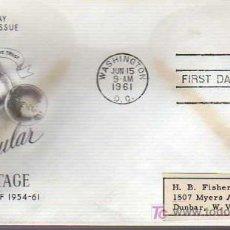 Selos: SOBRE DE PRIMER DIA-11 REGULAR POSTAGE 1961. Lote 15951203