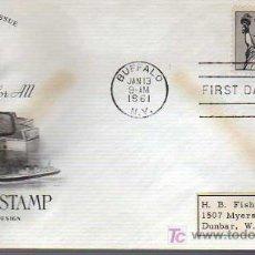 Selos: SOBRE DE PRIMER DIA-15 CENT, AIR MAIL STAMP 1961. Lote 15951395