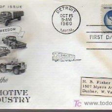 Selos: SOBRE DE PRIMER DIA-HONORING THE AUTOMOTIVE INDUSTRY 1960. Lote 15951814