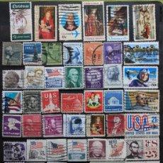 Sellos: ESTADOS UNIDOS 50 SELLOS USADOS USA-03. Lote 16424838