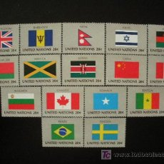 Sellos: NACIONES UNIDAS NEW YORK 1983 IVERT 390/405 *** BANDERAS DE PAISES MIEMBROS DE LA ONU (IV). Lote 24379460