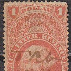 Sellos: ESTADOS UNIDOS (R10), REVENUE AÑO 1863, USADO. Lote 23893846