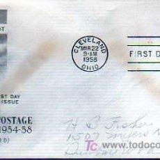 Selos: SOBRE PRIMER DIA - FIRST DAY -DE ESTADOS UNIDOS 8 REGULAR POSTAGE 1954.58. Lote 19236555