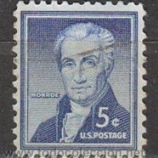 Sellos: ESTADOS UNIDOS (10-38), JAMES MONROE, QUINTO PRESIDENTE DE LOS ESTADOS UNIDOS, USADO. Lote 22874756