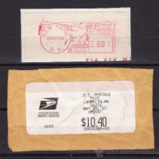 Sellos: DOS ATM TERMICOS USA 1966 Y 2007 USADOS. Lote 22981363