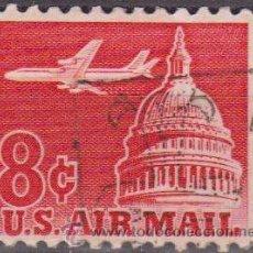 Sellos: USA 1962 SCOTT C64 SELLO AIR MAIL SERIE BASICA AVION. Lote 9047560