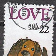 Sellos: ESTADOS UNIDOS (22-02), LOVE, AMOR (PERRO), USADO. Lote 118901148