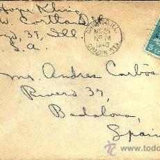 Sellos: CARTA ESCRITA EN INGLÉS CON SOBRE CIRCULADO - SELLO DE ESTADOS UNIDOS Y MATASELLOS DE CHICAGO - 1949. Lote 27181775