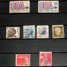 Sellos: LOTE 8 SELLOS USA - ESTADOS UNIDOS DE AMERICA - USADOS. Lote 27265737