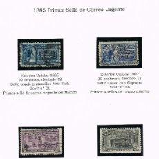 Sellos: 1885 EEUU PRIMEROS SELLOS DE CORREO URGENTE DEL MUNDO. Lote 28750216