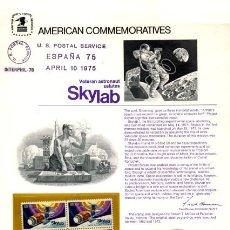 Sellos: AMERICAN COMMEMORATIVE US POSTAL SERVICE - 1975 - MUY RARO ASTROFILATELIA SKYLAB - ESTADOS UNIDOS. Lote 28902285
