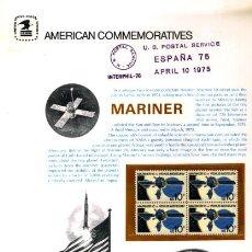 Sellos: AMERICAN COMMEMORATIVE US POSTAL SERVICE - 1975 - MUY RARO ASTROFILATELIA MARINER - ESTADOS UNIDOS. Lote 28902371