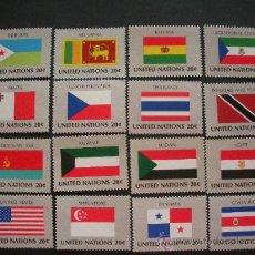 Sellos: NACIONES UNIDAS NUEVA YORK 1981 IVERT 341/56 *** BANDERAS DE PAISES MIEMBROS DE LA ONU (II). Lote 34099418
