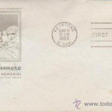 Sellos: SOBRE PRIMER DÍA.MT. RUSMORE. MATASELLO KEISTONE 11 AGOS. 1952.. Lote 35393267
