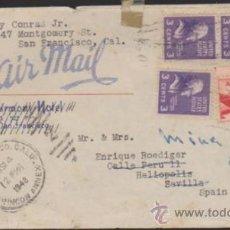 Sellos: CARTA DE SAN FRANCISCO A MINA SULTANA (CALA) DEL 4 SEP. 1948.. Lote 35404308