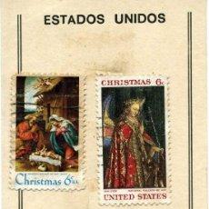 Sellos: 3 SELLOS ESTADOS UNIDOS CHRISTMAS. Lote 36290587
