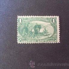 Sellos: USA,ESTADOS UNIDOS,1898,SCOTT 285*,EXP. TRANS MISSISSIPPI,NUEVO CON GOMA Y SEÑAL FIJASELLOS. Lote 37409067