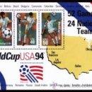 Sellos: USA 1994 WORLD CUP SOCCER SHEET SC 2837, MI B34-2460-69, SG MS2902-04, YV C2239. Lote 37757174