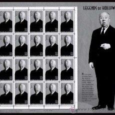 Selos: ESTADOS UNIDOS 1998 LEYENDAS DE HOLLYWOOD ALFRED HITCHCOCK PLIEGO OF 20 SC 3226SP YT BF2766. Lote 37770351