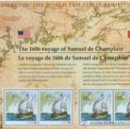 Sellos: USA 2006 CHAMPLAIN´S SURVEY SHEET SC 4073SP, MI B59-4118-19, SG MS4618, YV BF44-3827. Lote 37793549