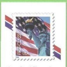Sellos: USA 2006 LADY LIBERTY FLAG FOLDED VENDING BOOKLET OF 20 STAMPS $0.39 SC C3974. Lote 37808406